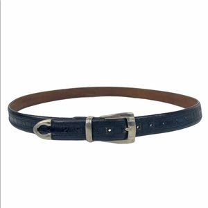 Mezlan Crocodile Leather Belt